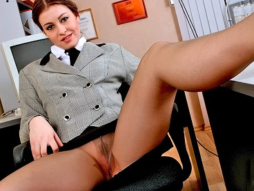 secretary pussy in pantyhose
